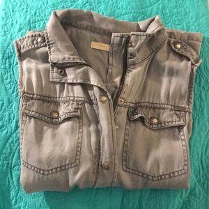 Gray Max Jeans Vest
